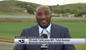 Aqib Talib talks nicknames for Rams' revamped secondary