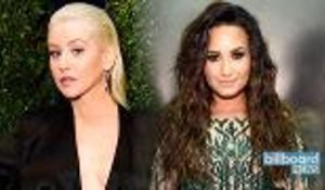 Christina Aguilera & Demi Lovato Release New Song 'Fall in Line' | Billboard News