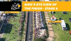 Vue aérienne de l'arrivée / Bird's-eye view of the finish - Étape 6 / Stage 6 - Tour de France 2018