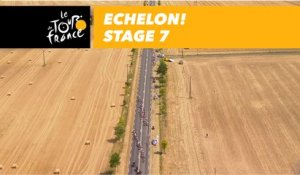Coup de bordure ! / Echelon! - Étape 7 / Stage 7 - Tour de France 2018