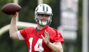 Anderson: Darnold was 'whispering' play calls during his first Jets practice