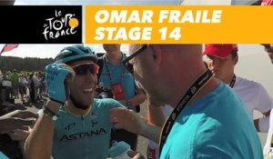 La joie d'Omar Fraile / The joy of Omar Fraile - Étape 14 / Stage 14 - Tour de France 2018