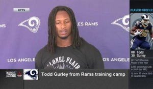 Gurley reacts to record-setting contract extension