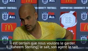 "Man City - Guardiola : ""Nous voulons garder Sterling"""