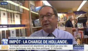 Prélèvement à la source: Hollande charge Macron