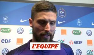 Giroud «Il fallait gagner» - Foot - L. Nations - Bleus