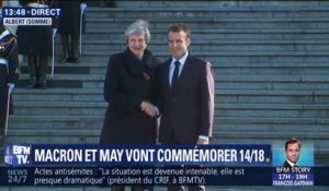 Emmanuel Macron accueille Theresa May dans la Somme