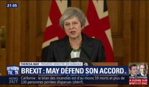 Brexit : Theresa May défend son accord avec l'UE