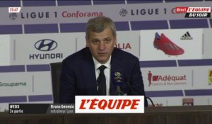 Genesio «On aurait pu faire le break en fin de match» - Foot - L1 - OL