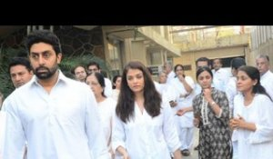 Oh No! Abhishek Bachchan and Aishwarya Rai attend a funeral