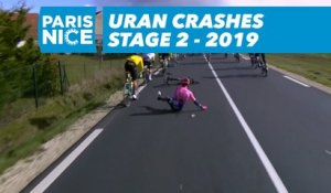 Uran Crashes - Étape 2 / Stage 2 - Paris-Nice 2019