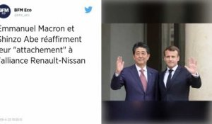 Affaire Ghosn. Macron et Abe réaffirment « leur attachement à l'alliance Renault-Nissan »