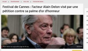 Festival de Cannes : la pétition contre Alain Delon
