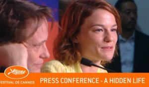 A HIDDEN LIFE - Press conference - Cannes 2019 - EV