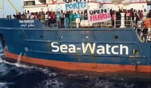 Sea Watch : la capitaine du navire veut forcer le blocus italien