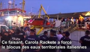 Migrants secourus: la capitaine du Sea-Watch face à un juge italien
