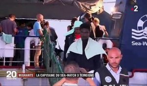 "Migrants : Carola Rackete la capitaine du ""Sea-Watch"" porte plainte pour diffamation contre le ministre de l'Intérieur italien"
