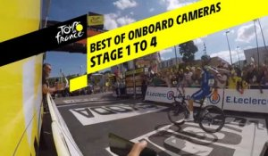 Best Of caméras embarquées / Best Of onboard cameras - Etape 1 à 4 / Stage 1 to 4 - Tour de France 2019