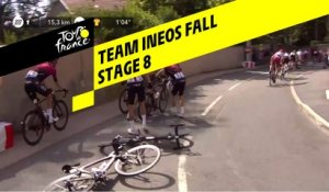 Chute du Team Ineos / Team Ineos Fall - Étape 8 / Stage 8 - Tour de France 2019