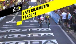 Last kilometer / Flamme rouge - Étape 11 / Stage 11 - Tour de France 2019