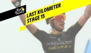 Last kilometer / Flamme rouge - Étape 15 / Stage 15 - Tour de France 2019