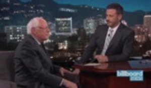 Bernie Sanders Stops by 'Kimmel,' Talks A$AP Rocky, and Cardi B | Billboard News