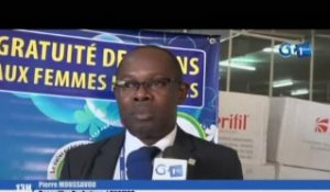RTG/Remise des Kits d'accouchement à l'office pharmaceutique nationale par la CNAMGS