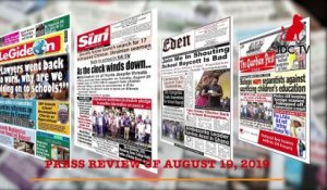 CAMEROUNIAN PRESS REVIEW OF AUGUST 19, 2019