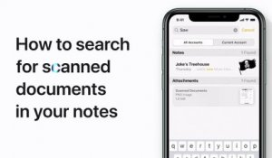 How to search inside scanned documents in Notes for iPhone or iPod touch - Apple Support