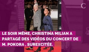 PHOTOS. Christina Milian, enceinte, expose son ventre arrondi pendant la tournée de Matt Pokora