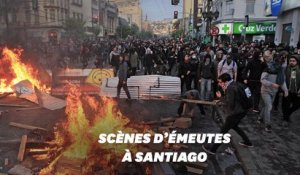 Au Chili, Santiago en proie aux pillages et aux violences