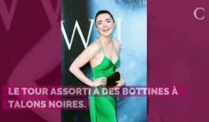 PHOTOS. Maisie Williams rayonnante avec une ceinture très Game of Thrones