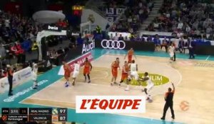 Le Real Madrid s'impose face à Valence - Basket - Euroligue