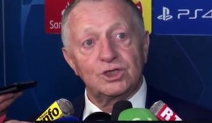 Football - Champions League - La réaction de Jean-Michel Aulas après la qualification de Lyon contre Leipzig