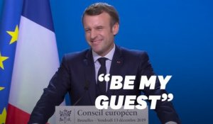 """Be my guest"" lance Macron à Johnson en vue d'un accord post-Brexit"