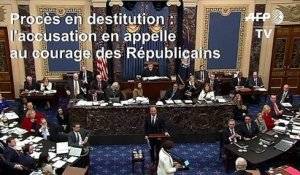 Destitution Trump: l'accusation en appelle au courage des sénateurs républicains