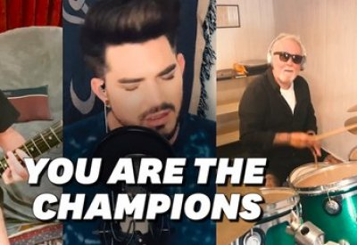 "Queen et Adam Lambert reprennent ""We are the champions"" pour les soignants"
