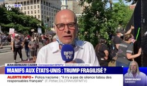 George Floyd: les manifestants se mobilisent contre Donald Trump