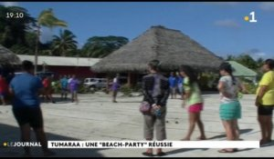 "Raiatea : une ""beach"" party réussie"