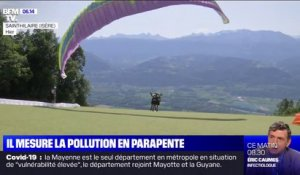 Il mesure la pollution...en parapente