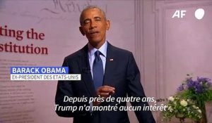 Convention démocrate: Obama dénonce l'administration Trump