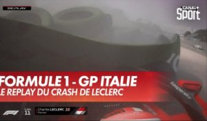 Le replay du crash de Charles Leclerc