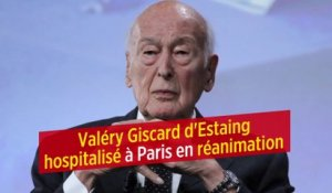 Valéry Giscard d'Estaing hospitalisé à Paris en réanimation