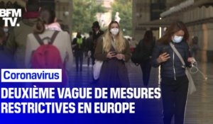 Coronavirus: deuxième vague de restrictions en Europe