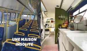 Ce couple a transformé un bus londonien en maison cosy