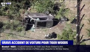 Tiger Woods hospitalisé après un grave accident de la route près de Los Angeles