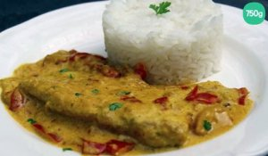 Filets de cabillaud au curry