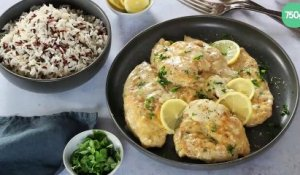 Escalopes de poulet au citron