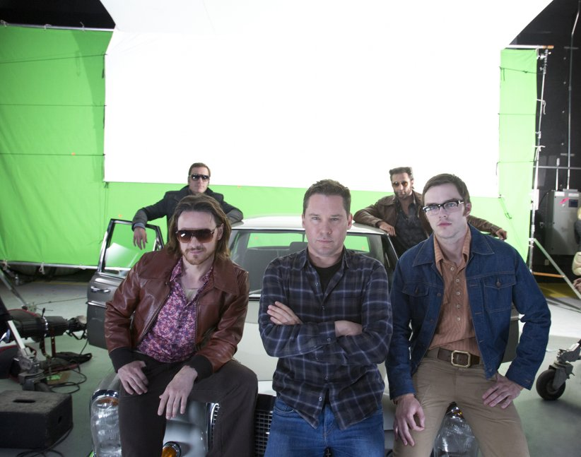 X-Men: Days of Future Past : Photo Bryan Singer, Hugh Jackman, James McAvoy, Michael Fassbender, Nicholas Hoult