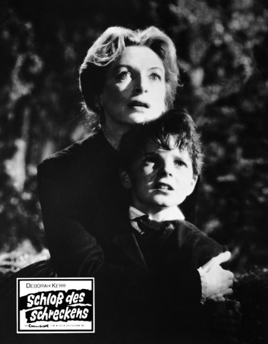 Les Innocents : photo Deborah Kerr, Martin Stephens